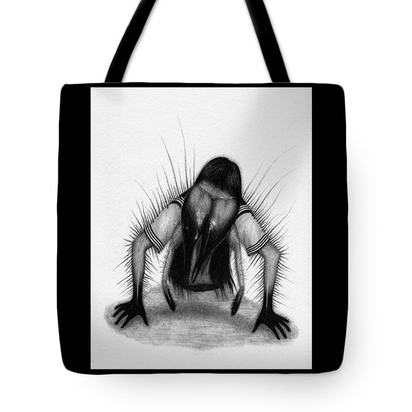 Tote Bag featuring the drawing Teke Teke - Artwork by Ryan Nieves