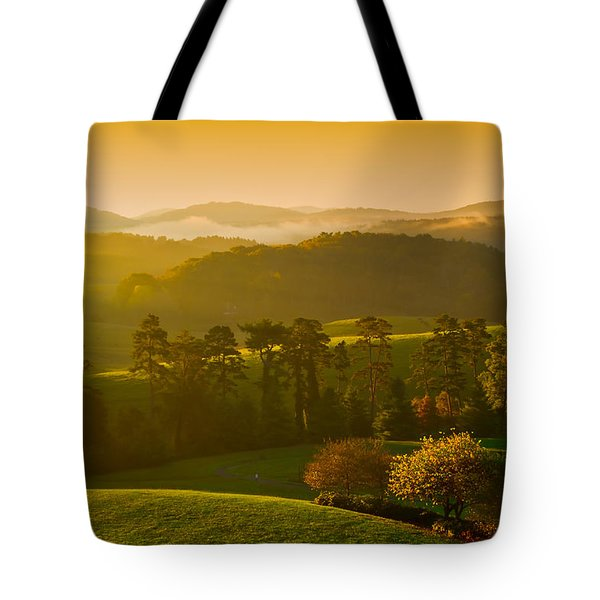 Smokey Mountain Sunrise Tote Bag