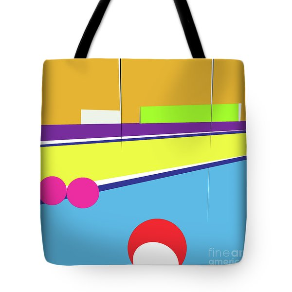 Tennis In Abstraction Tote Bag