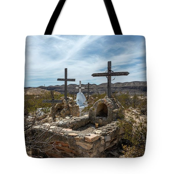 Tote Bag featuring the photograph Terlingua Cemetery by Joe Sparks
