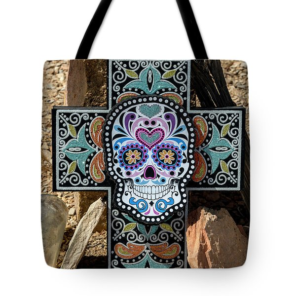 Tote Bag featuring the photograph Terlingua Cross by Joe Sparks