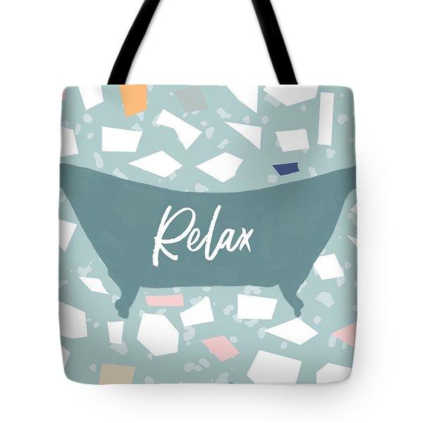 Terrazzo Bath Relax- Art By Linda Woods Tote Bag