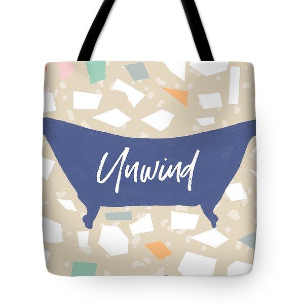 Terrazzo Unwind Bathtub- Art By Linda Woods Tote Bag