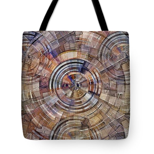 Tote Bag featuring the digital art Test Pattern by David Manlove
