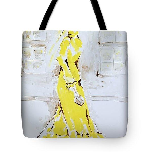 Fashion Girl Yellow 2018 Tote Bag