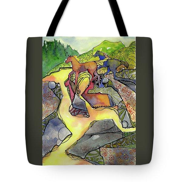 Tevis Ponies Tote Bag