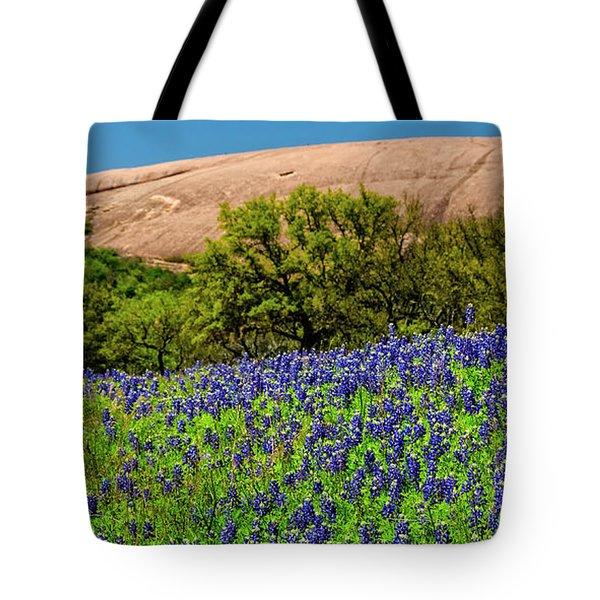Texas Bluebonnets And Enchanted Rock 2016 Tote Bag