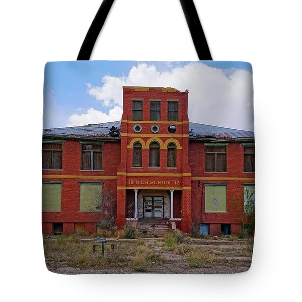 Texas Ghost Town School  Tote Bag