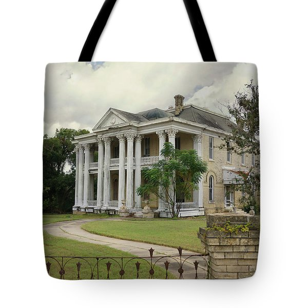Texas Mansion In Ruin Tote Bag