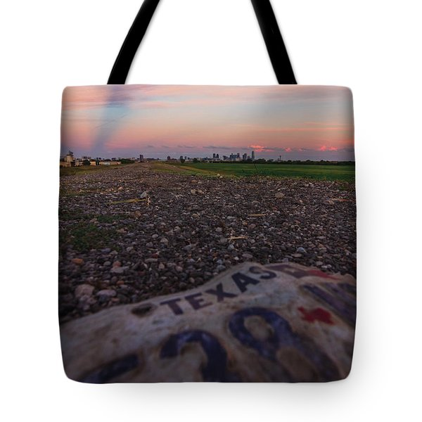 Texas Tags Tote Bag