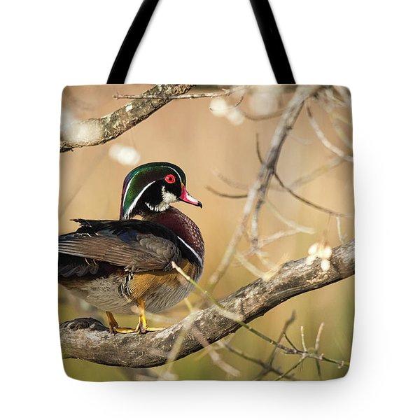 Texas Wood Duck Tote Bag