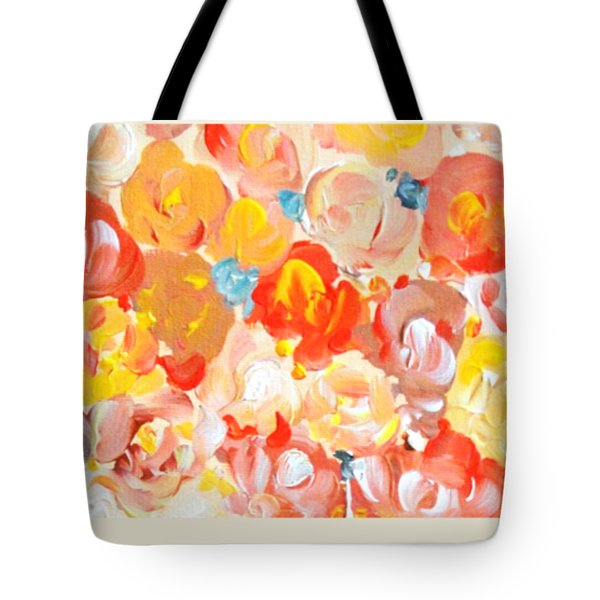 Tote Bag featuring the painting Thank You #2 by Maria Langgle