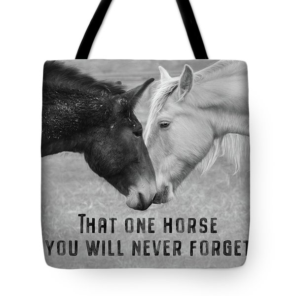 That One Horse Tote Bag