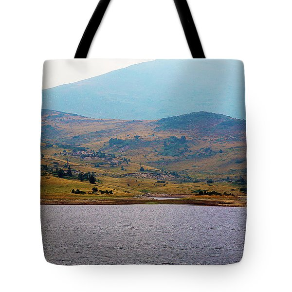 Tote Bag featuring the photograph That Small Island by Milena Ilieva