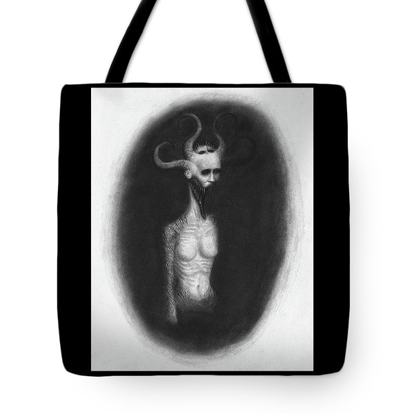 Tote Bag featuring the drawing That Which Feasts On The Seventh Night - Artwork by Ryan Nieves