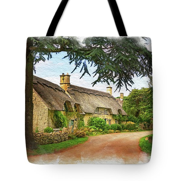 Thatched Roof Lane Tote Bag