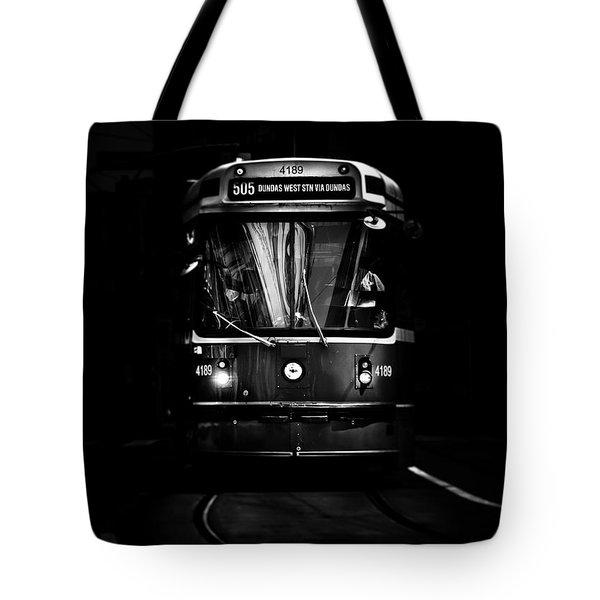 The 505 Dundas Streetcar Toronto Canada Tote Bag