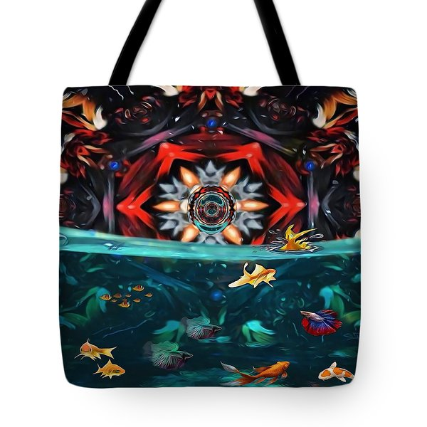 The Abstract Fish Tomb Tote Bag