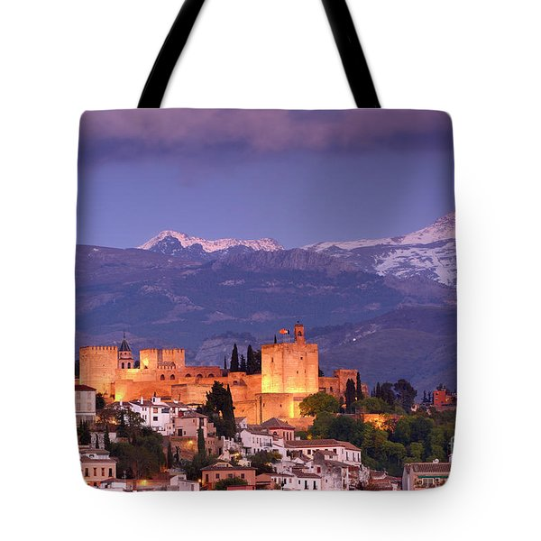 The Alhambra, Albaicin. Spring After The Snow Tote Bag