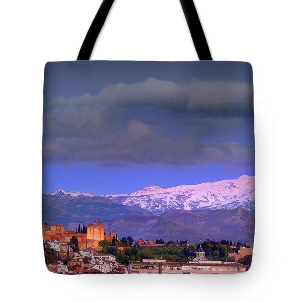 The Alhambra, Albaicin. Spring Time Tote Bag