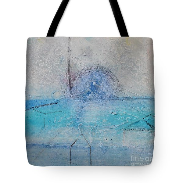 Tote Bag featuring the painting The Angels Above Us by Kim Nelson