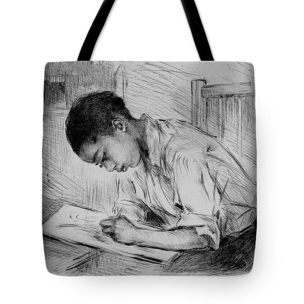 Tote Bag featuring the photograph The Artist by Pennie McCracken