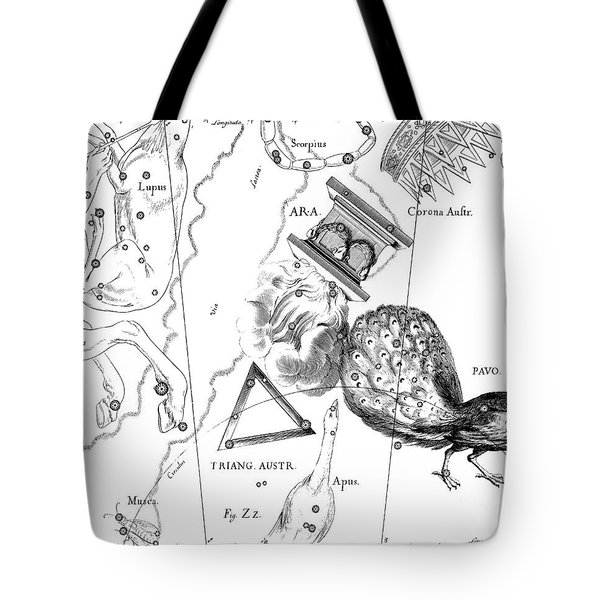 The Austral Constellations Of The Altar, The Southern Triangle And The Peacock Tote Bag
