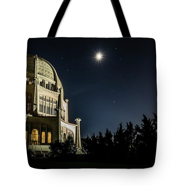 The Bahais Temple On A Starry Night Tote Bag