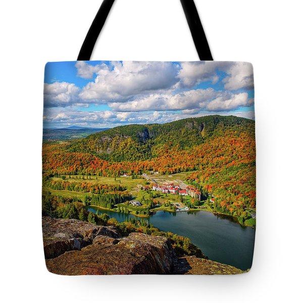 The Balsams Resort Autumn. Tote Bag