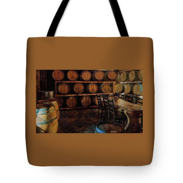Tote Bag featuring the photograph The Barrel Room by Thom Zehrfeld