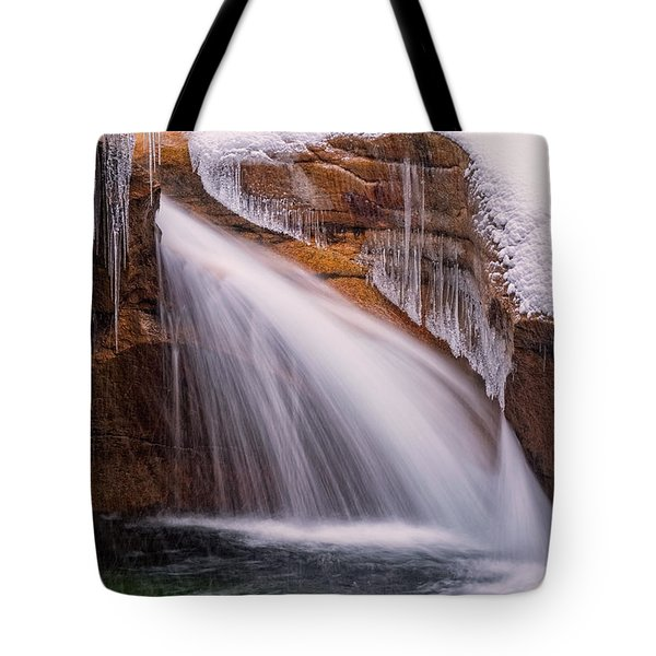The Basin, Close Up In A Winter Storm Tote Bag