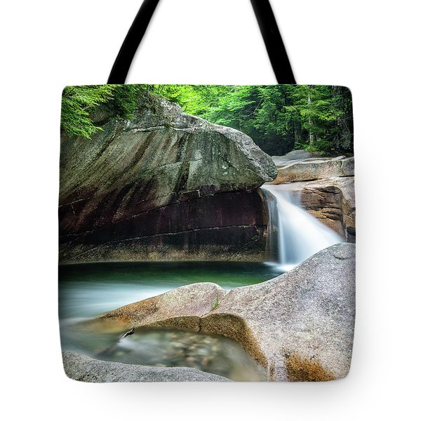 Tote Bag featuring the photograph The Basin, Springtime Nh by Michael Hubley
