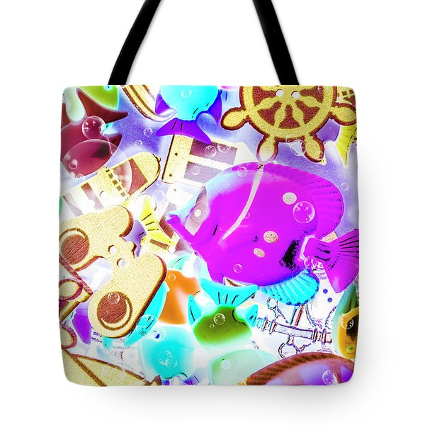 The Beach Below Tote Bag