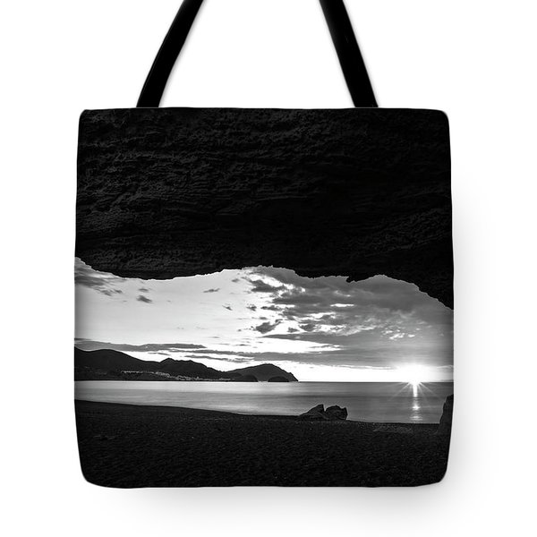 The Beach Of The Sculptures At Dawn In Almeria Tote Bag