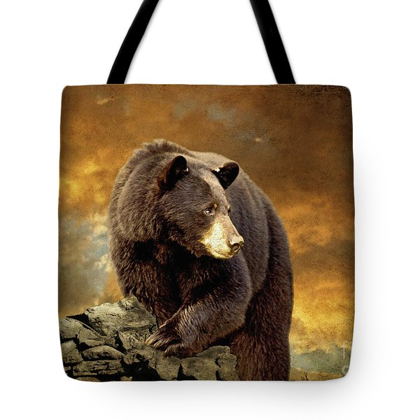 The Bear Went Over The Mountain Tote Bag
