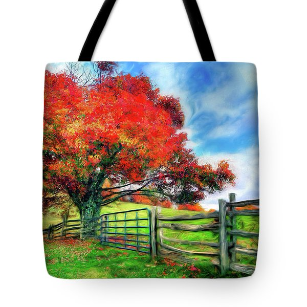 The Beauty Of A Blue Ridge Autumnl Ap Tote Bag