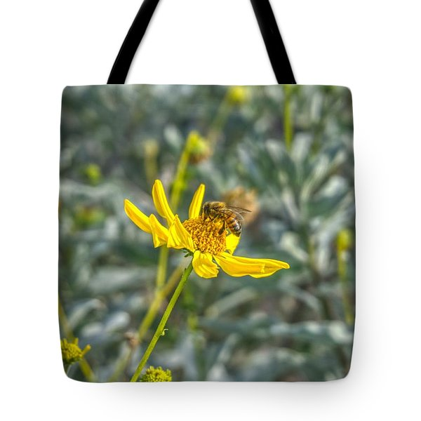 The Bee The Flower Tote Bag