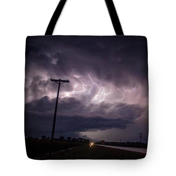 The Best Supercell Of The Summer 040 Tote Bag