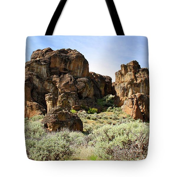 Arches Hoodoos And Castles The Big Picture Little City Of Rocks Tote Bag
