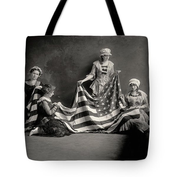 The Birth Of The American Flag Tote Bag
