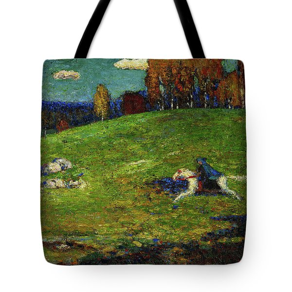The Blue Rider, 1903 Tote Bag