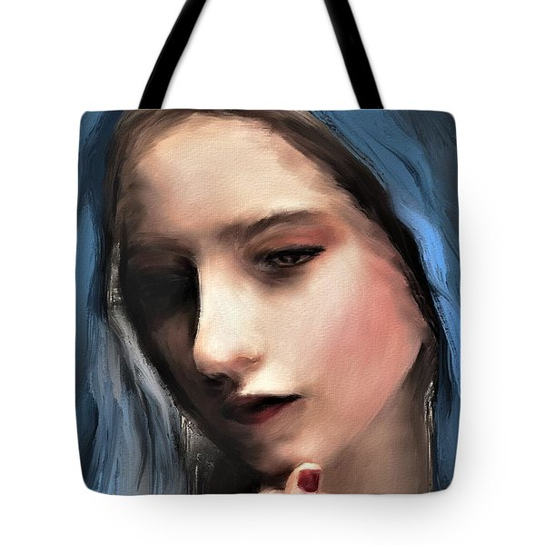 The Blue Scarf Tote Bag