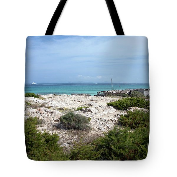 The Boathouse On A Rocky Shore Tote Bag