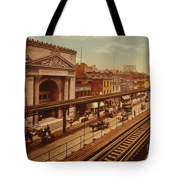 The Bowery, New York City, Circa 1900 Tote Bag