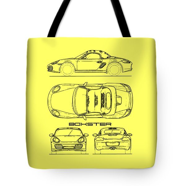 The Boxster Blueprint Tote Bag