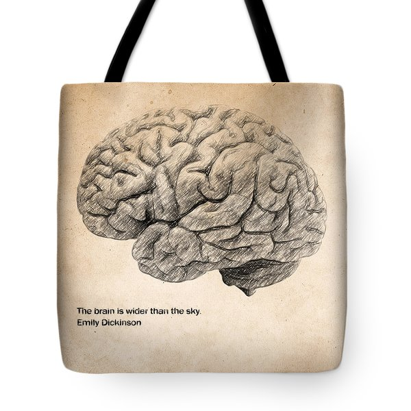The Brain Is Wider Than The Sky Tote Bag
