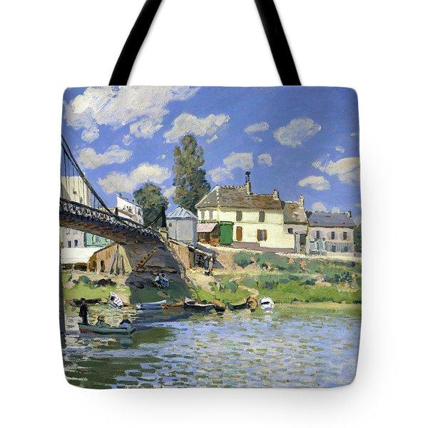 The Bridge At Villeneuve-la-garenne - Digital Remastered Edition Tote Bag