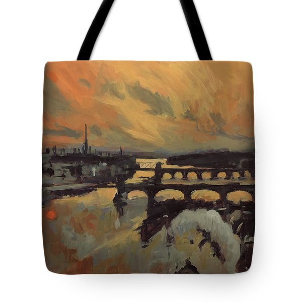 The Bridges Of Maastricht Tote Bag