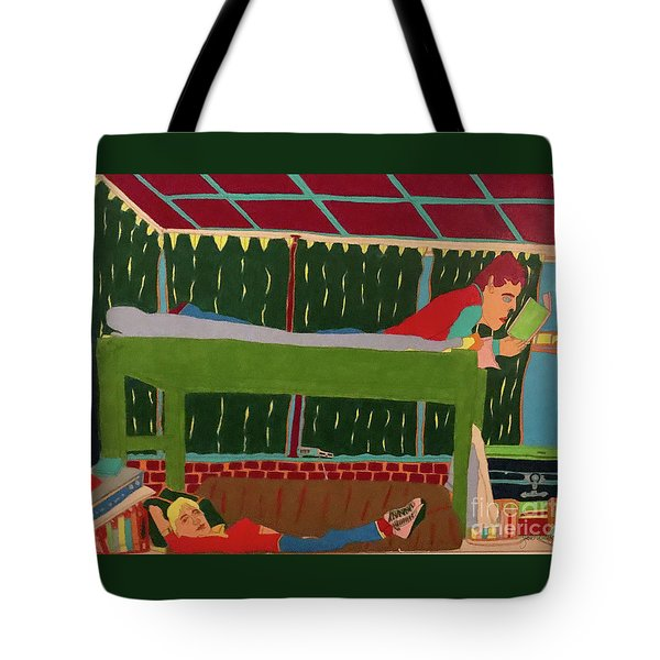 Tote Bag featuring the drawing The Bunk by John Wiegand