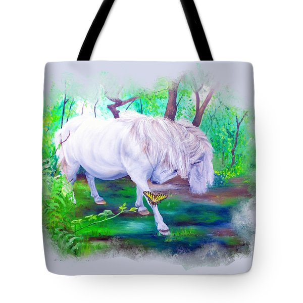 The Butterfly And The Pony Tote Bag